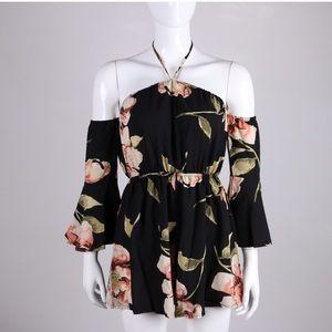 Dresses - Trendy Summer Floral Romper